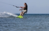 Flat offshore kiteboarding Greece