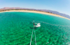 Crystal clear waters for kiteboarding in Greece