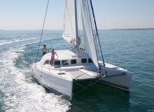 Lagoon 380 catamaran sailing