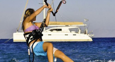 Ionian islands catamaran kitesurfing trip